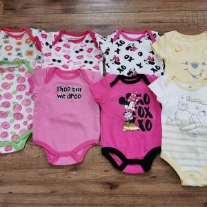 Other - Lot Of 8 Baby Bodysuits Buster Brown Disney